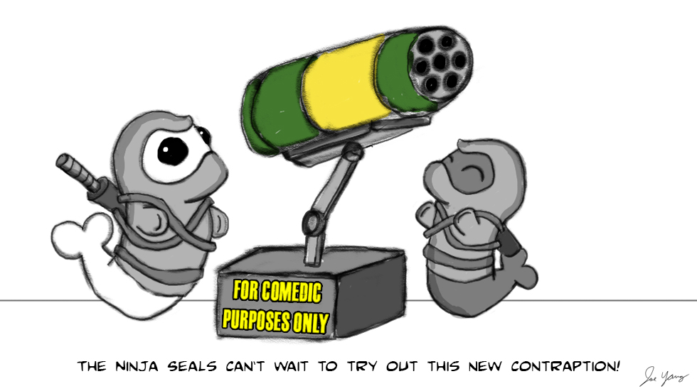 The Ninja Seals can't wait to try out this new contraption!