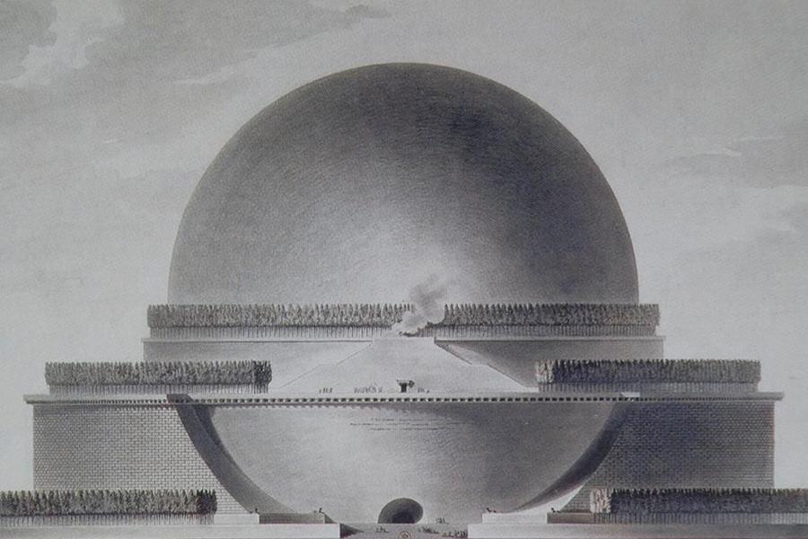 Cénotaphe à Newton  Étienne-Louis Boullée, 1784