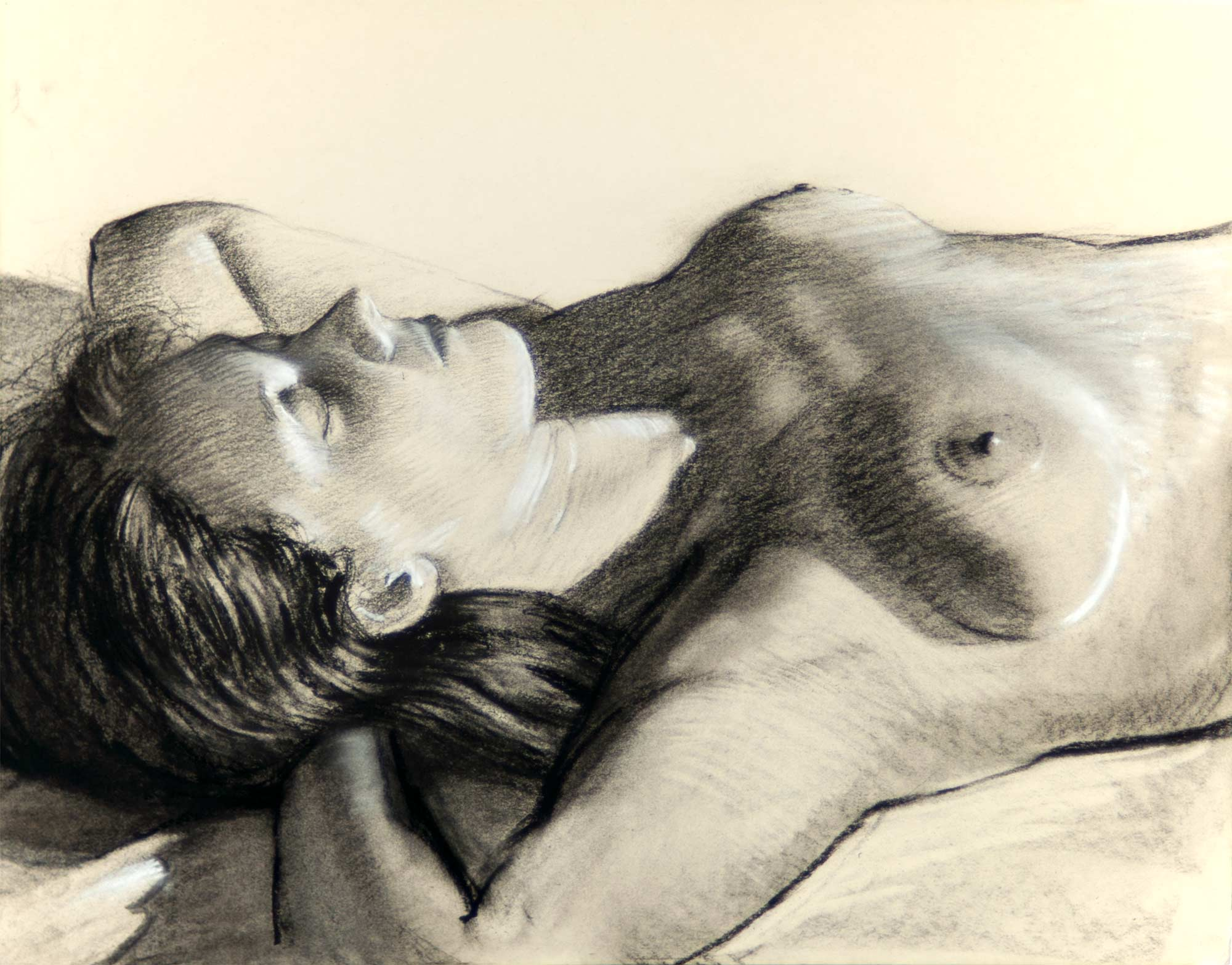 NW Reclining, Arms Behind Behind Her Head