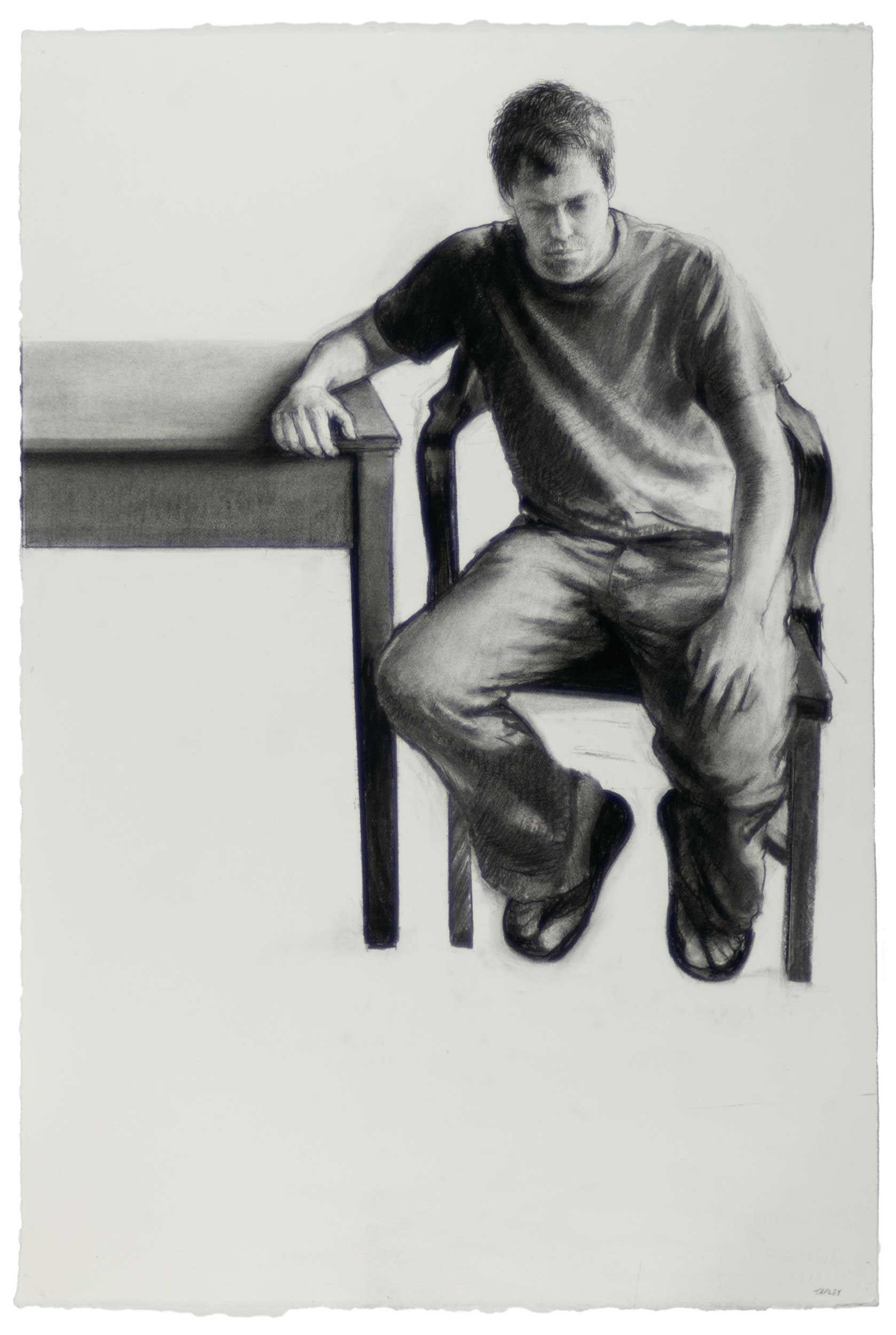 James, Seated By A Table