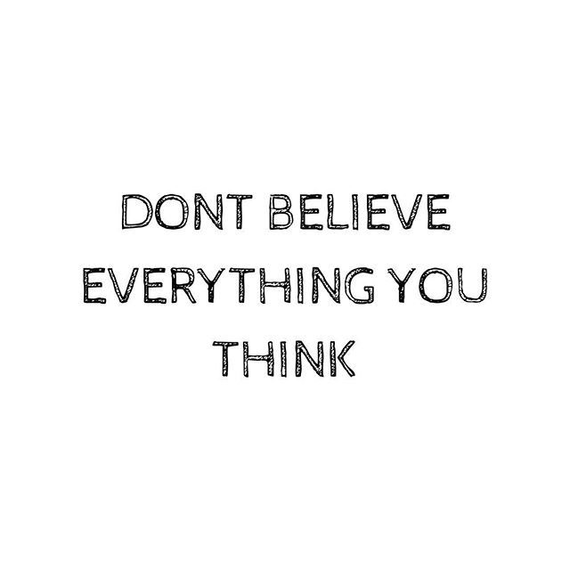 So often I hear from clients about their negative self talk stream and how much their thoughts affect their mood and self esteem.  Not every thought is a fact... 🌼 #thursdayvibes