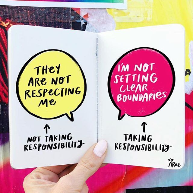 Love this amazing drawing - reposted from @heyamberrae 💭 || Learning how to set boundaries can free yourself of feeling trapped in a victim mentality. #wednesdaywisdom