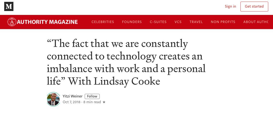 How Technology Creates Imbalance - Authority Magazine, 2018