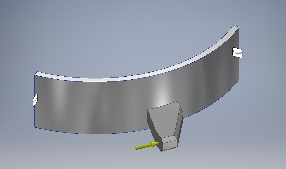 Simplified FEA Model for the First Impactor