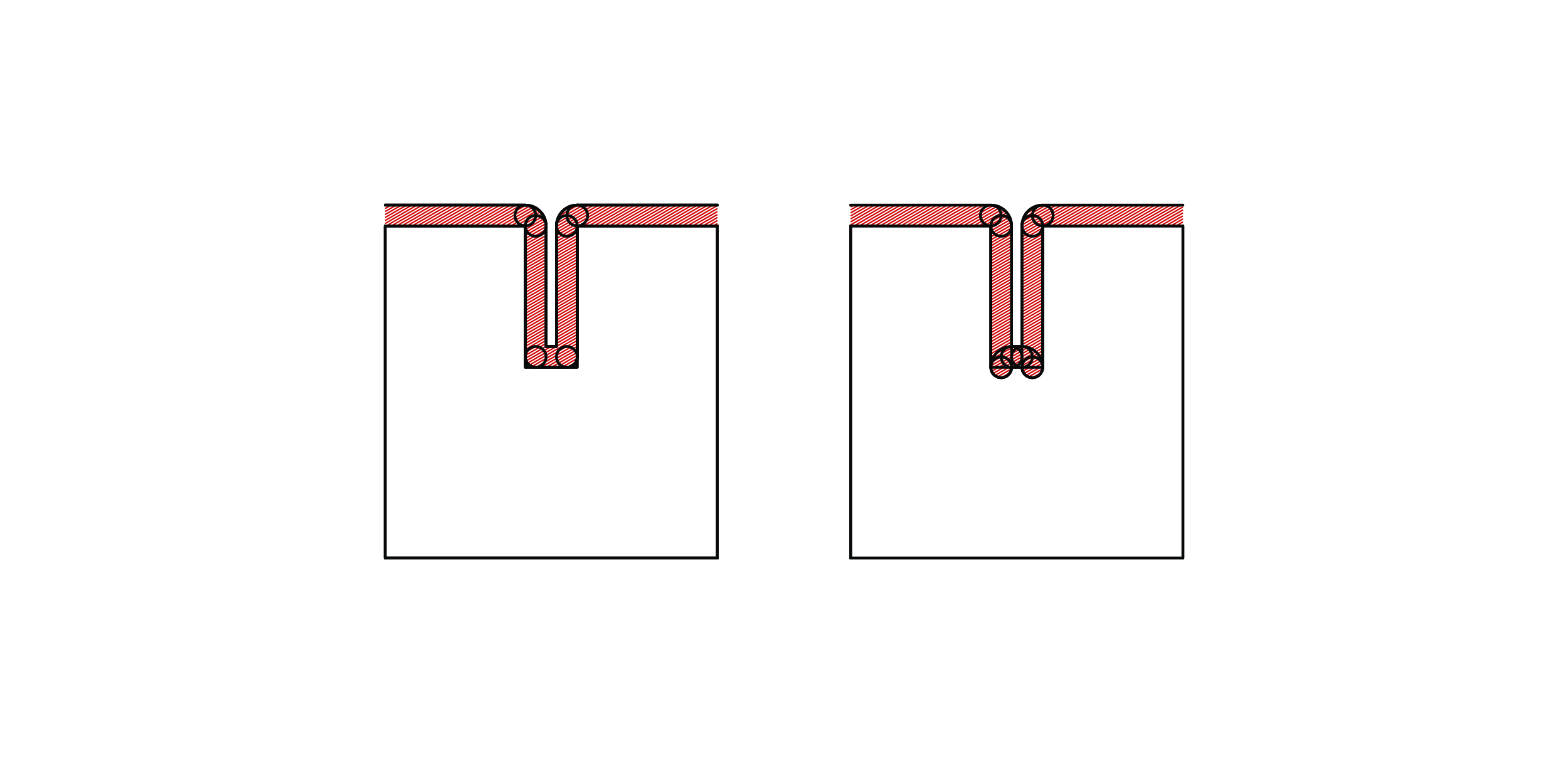 We will then select the tool you've allowed for when we program the CNC machine. The red area shows the path the tool will take based on the supplied geometry.