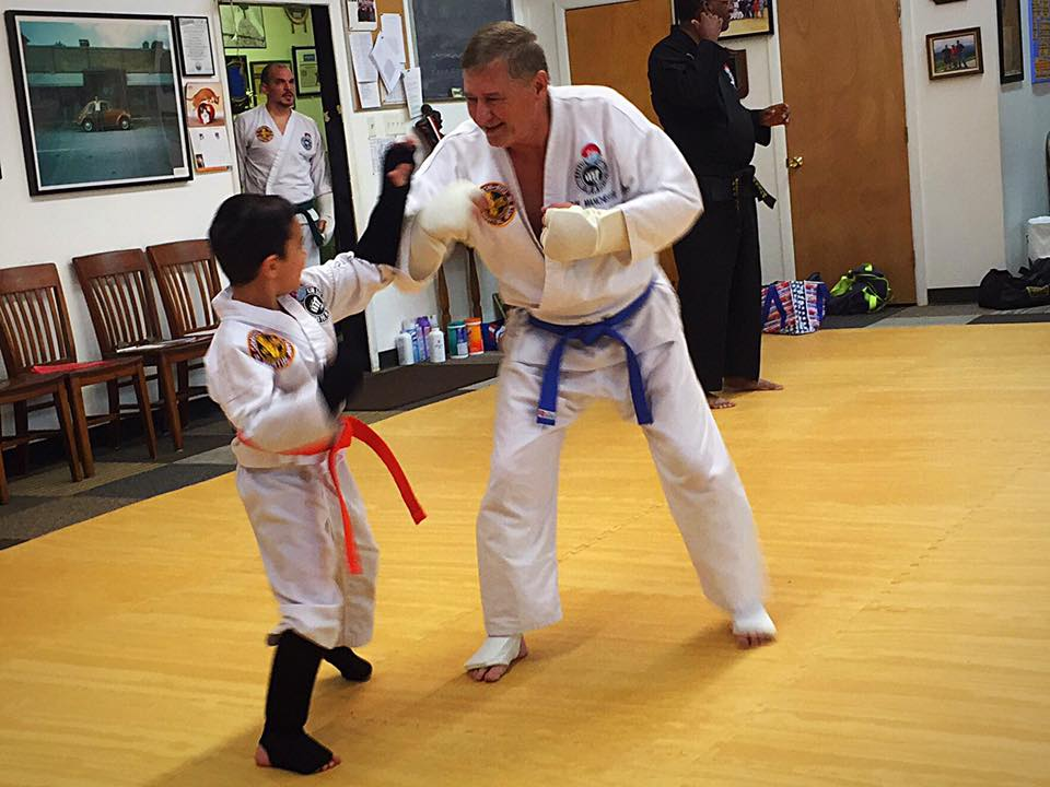 Adults Teach Kids Sparring Techniques