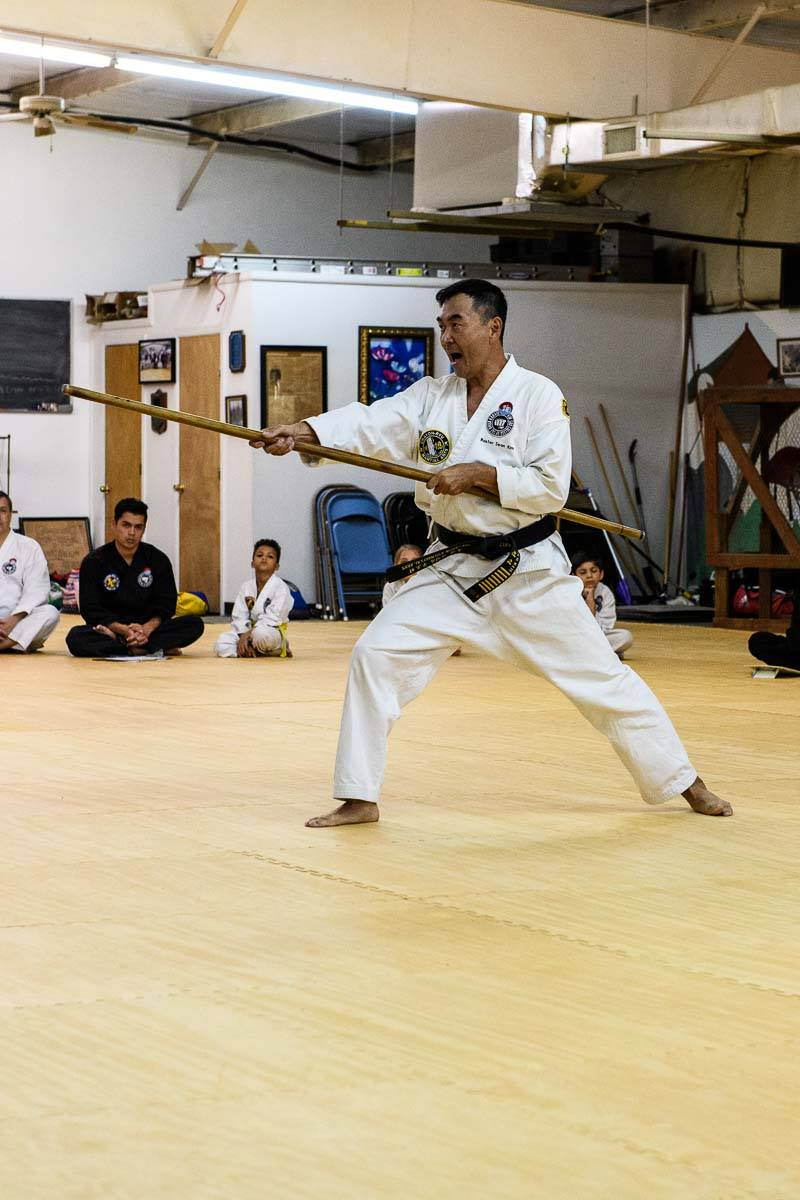 Master Kim Demonstrating Bayonet Form