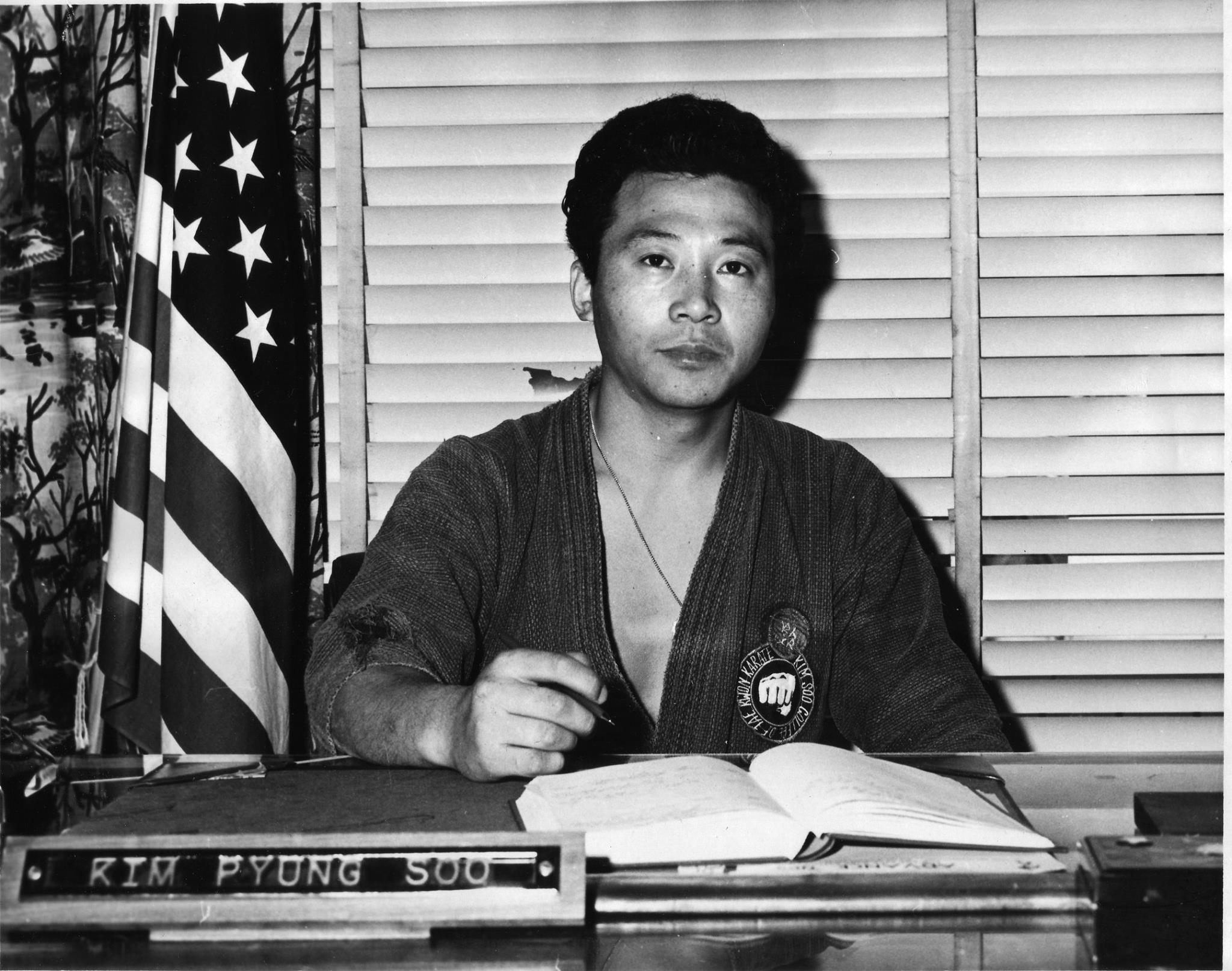 Grandmaster Kim Soo Working in 1968.jpg