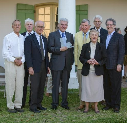 Pictured Above left to right: Previous Harnett Kane Winners - David Campbell, Bill Borah, Michael Duplantier, Nathan Chapman, Bill and Sally Reeves, John Geiser, and James Logan