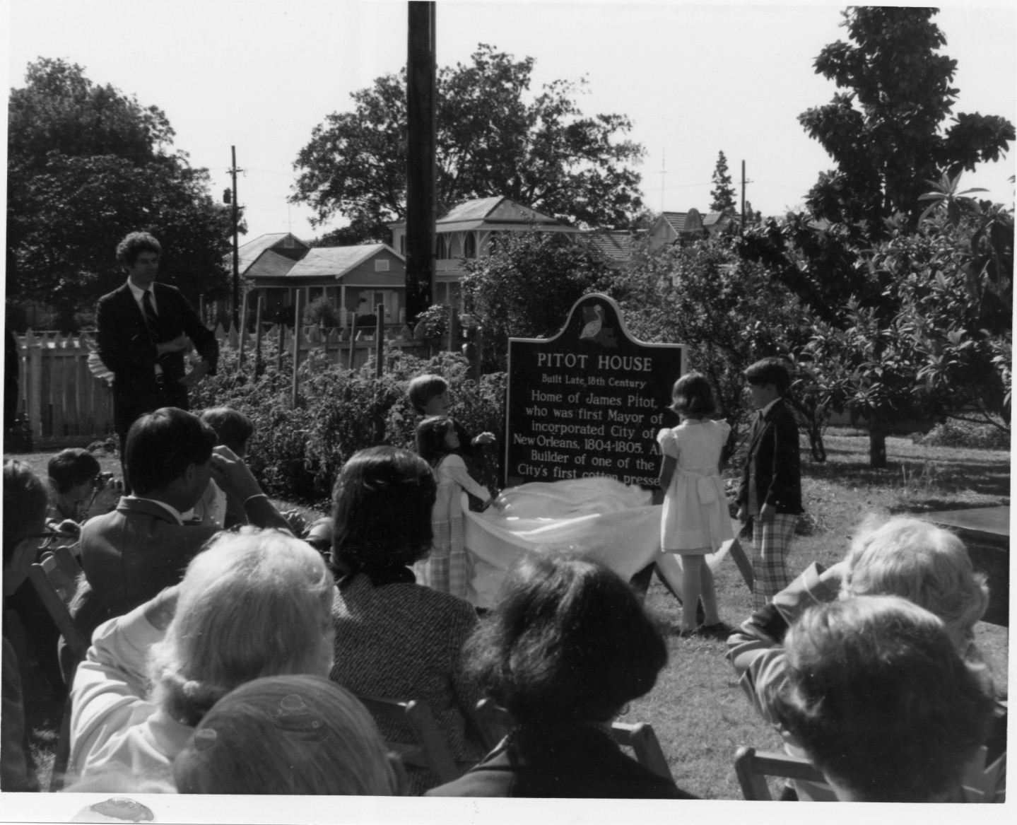 Dedication of Pitot House Historical Marker