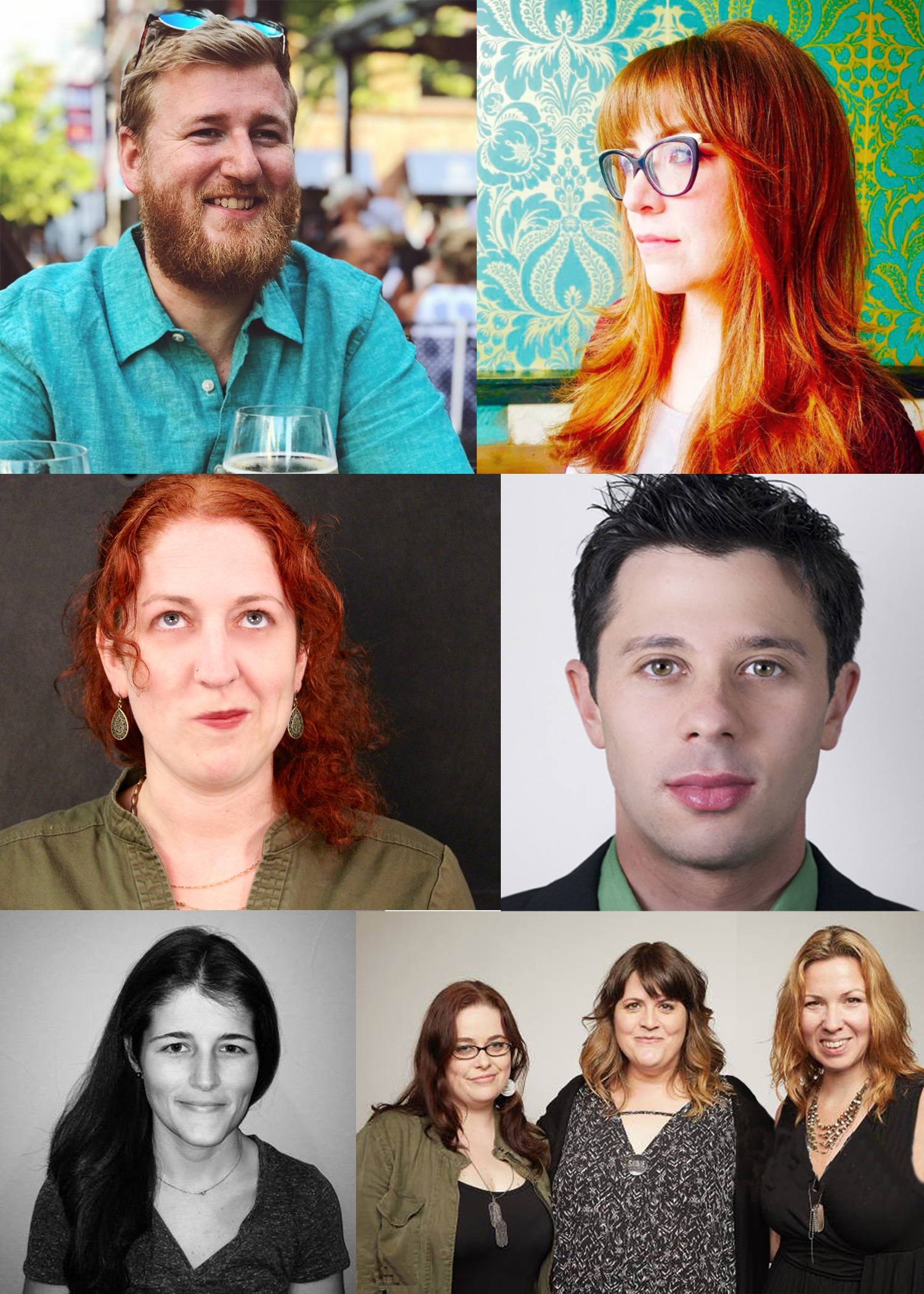 Clockwise from top left: Ben Rapson, Mia Bruno, Adam Kersh, SADIE producers Lacey Leavitt & Jennessa West and writer/director Megan Griffiths, Katherine Boehrer and Anna Feder .