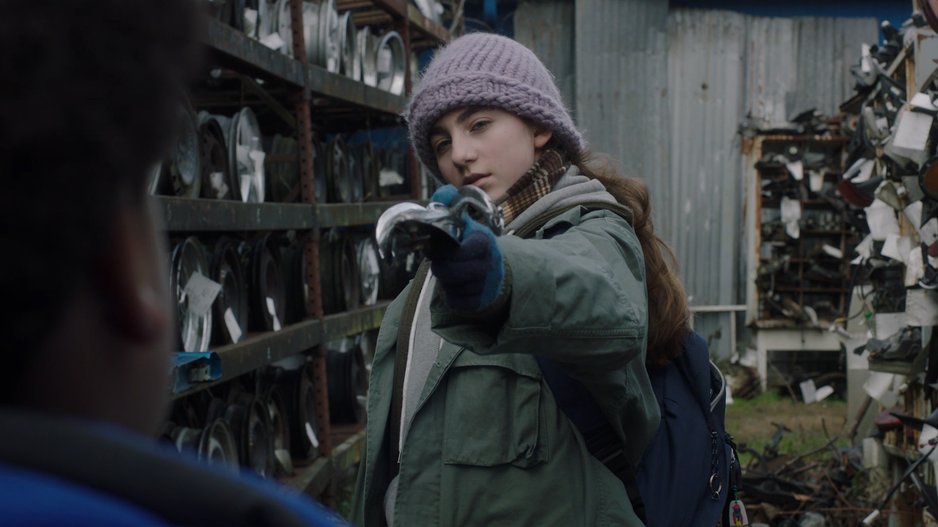 Sophia Mitri Schloss as 'Sadie' and Keith L. Williams as 'Francis'