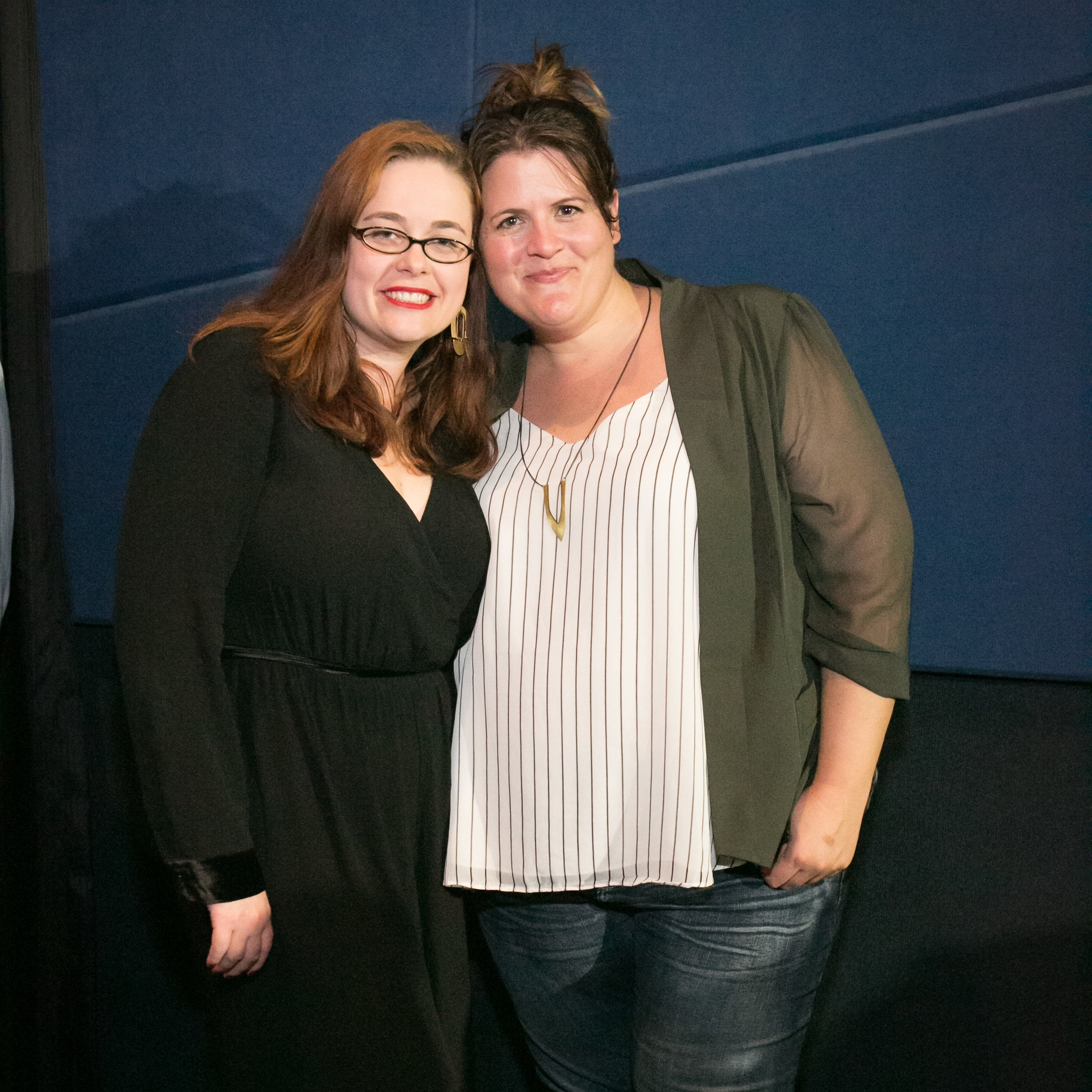 Producer Lacey Leavitt and writer/director Megan Griffiths at the Geena Davis Institute screening of SADIE, Photo credit: Credit Mary Schwinn
