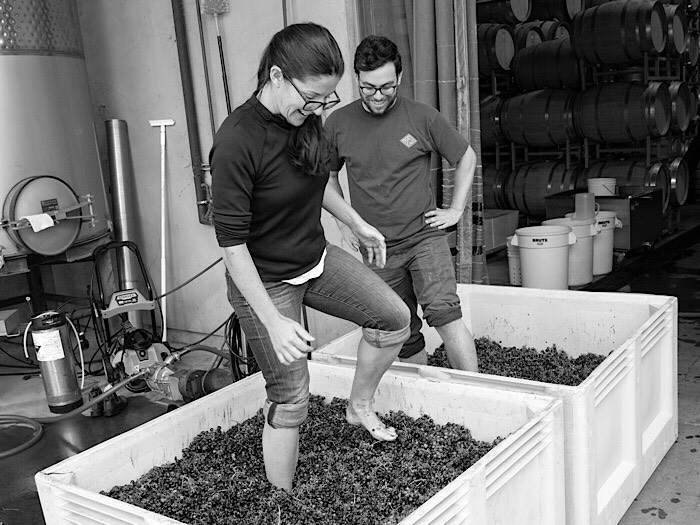 """Ryan Pass & Luisa Bonachea - Extea Wines • Napa, California  IRyan Pass and Luisa Bonachea launched Etxea Wines in 2015 with just one ton of Albariño from Rorick Heritage Vineyard, high in the Sierras on a limestone belt. Etxea Wines now sources Albariño and Cabernet Franc from four distinct vineyards in Northern California.  Ryan studied Viticulture and Enology at UC Davis and has been working in the industry for ten years while Luisa practices trademark law, helping establish wine brands. Etxea means """"house"""" in the Basque language and gives homage to Luisa's Basque roots, the Spanish origins of Albariño (from Galicia) and the Basque grape Hondarrabi Beltza, a descendant of Cabernet Franc. Our goal at Etxea Wines is to make a """"house"""" wine that you can enjoy every day and with every meal. Our approach and winemaking style is to let the grapes, and their unique vineyard origins, speak for themselves."""