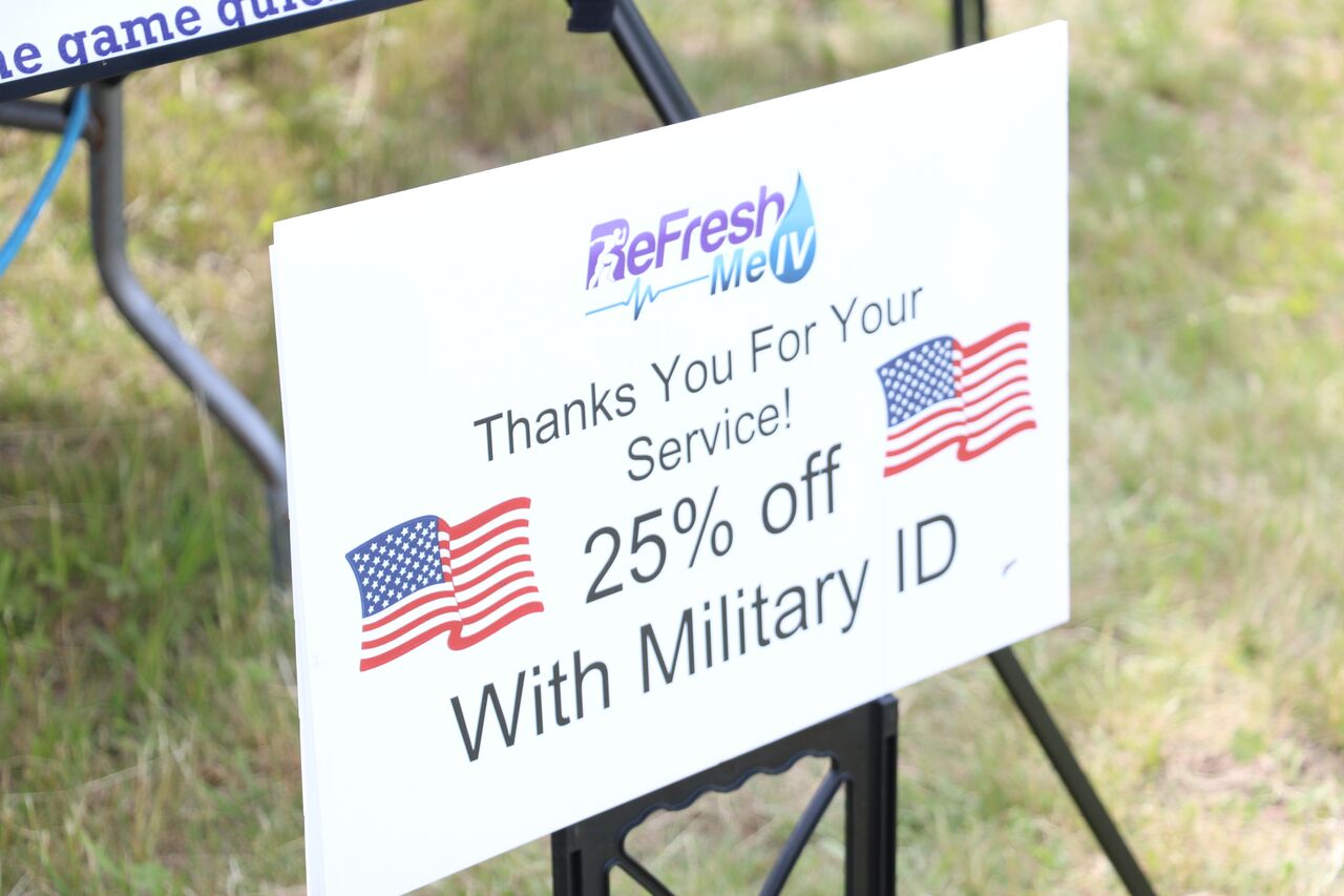We offer 25% off with a valid military ID! - Thank you for your service!
