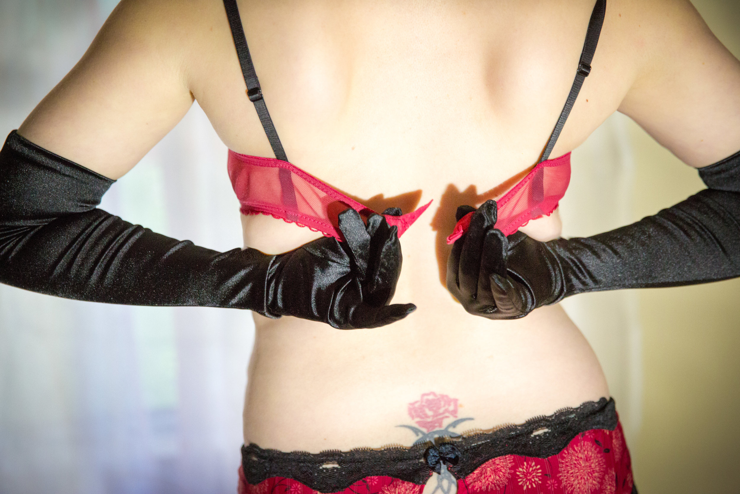 black gloves and boudoir