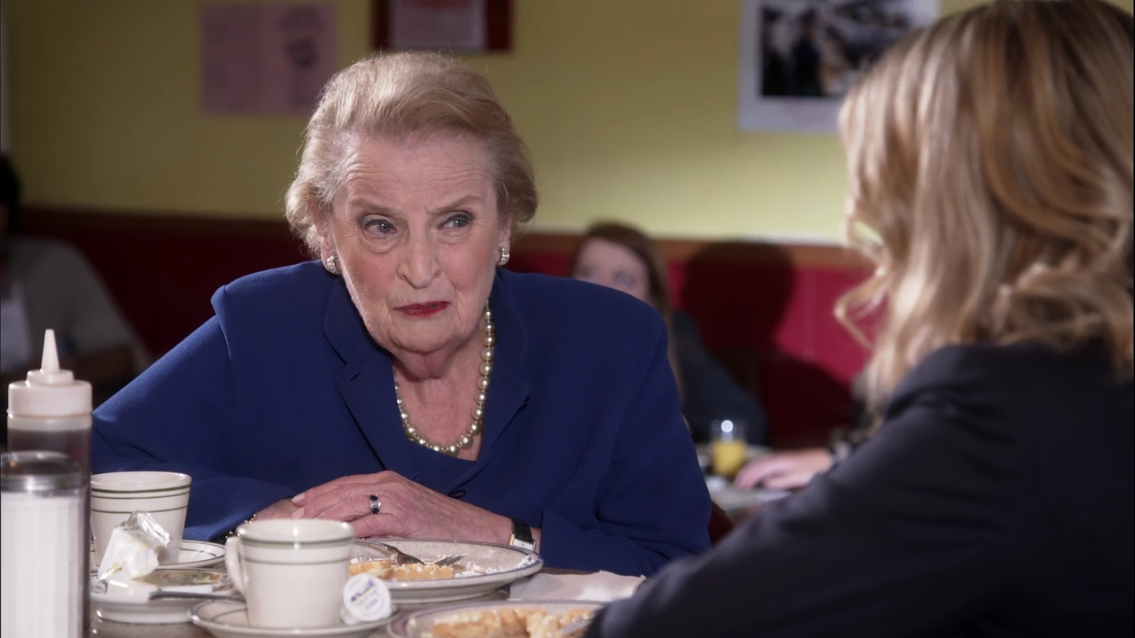 S7E8 Waffles in DC with Madeline Albright.PNG