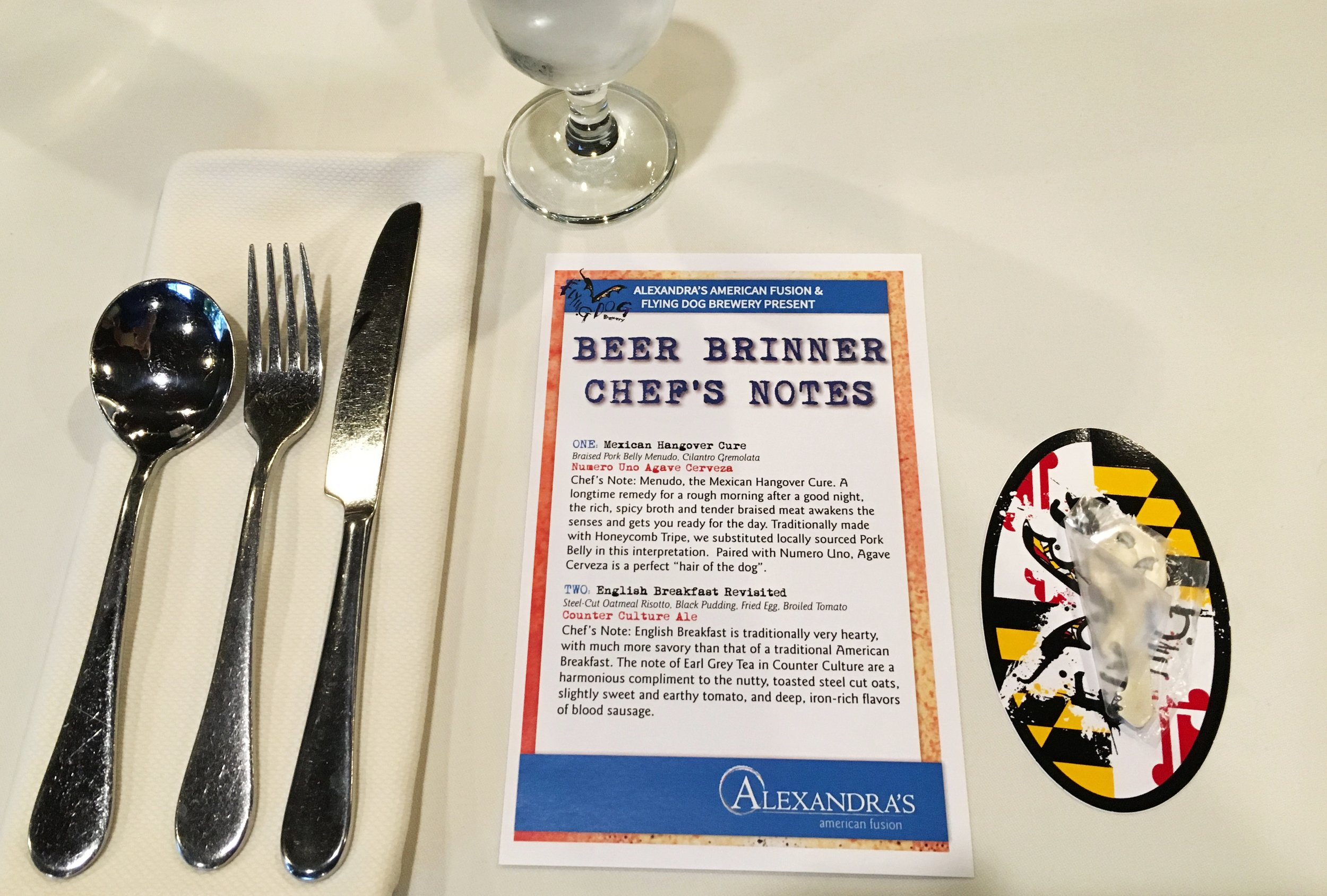 Chef's Notes - Flying Dog dinner at Alexandra's.jpg