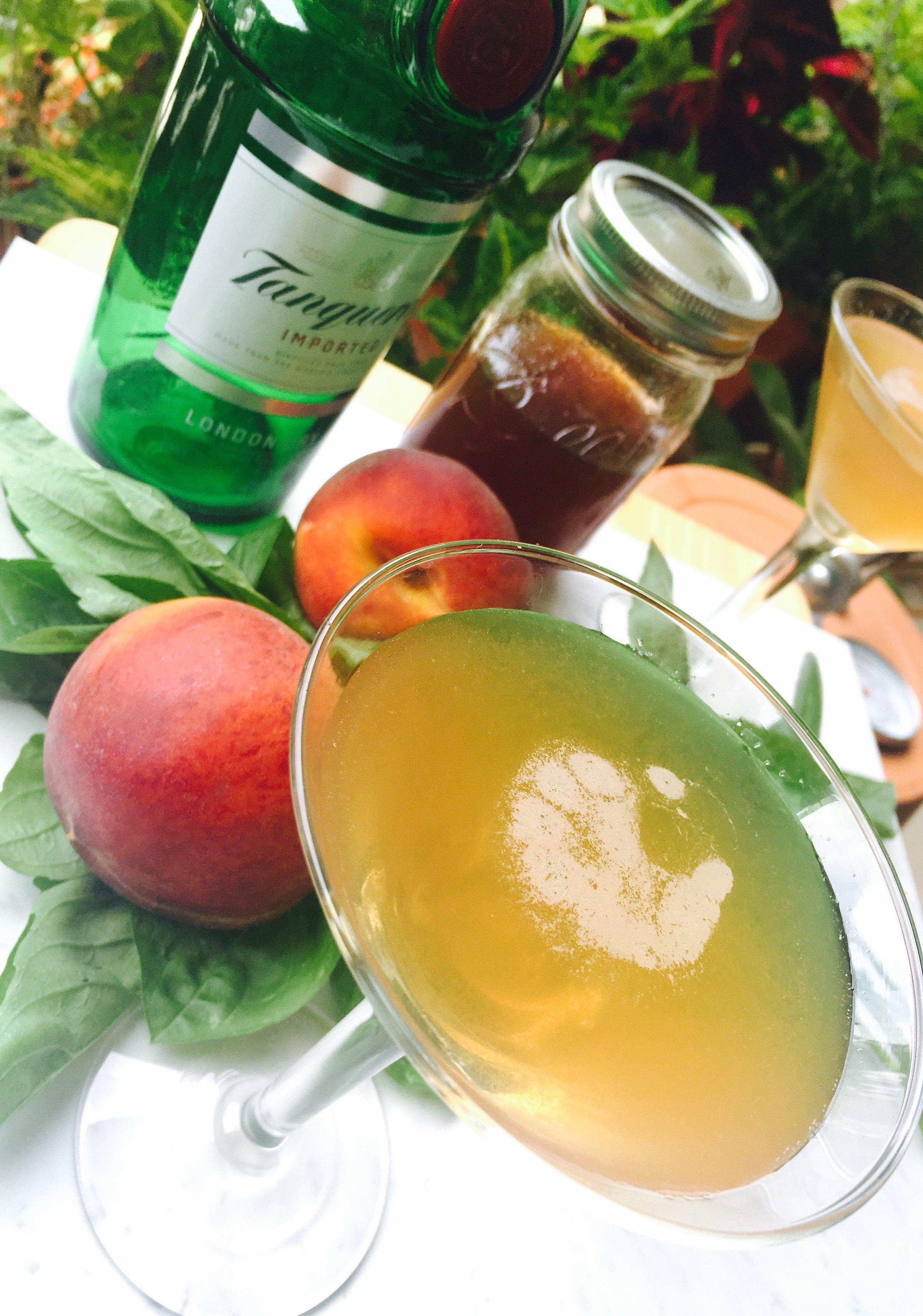 Peach basil gin gimlet cocktail.jpg