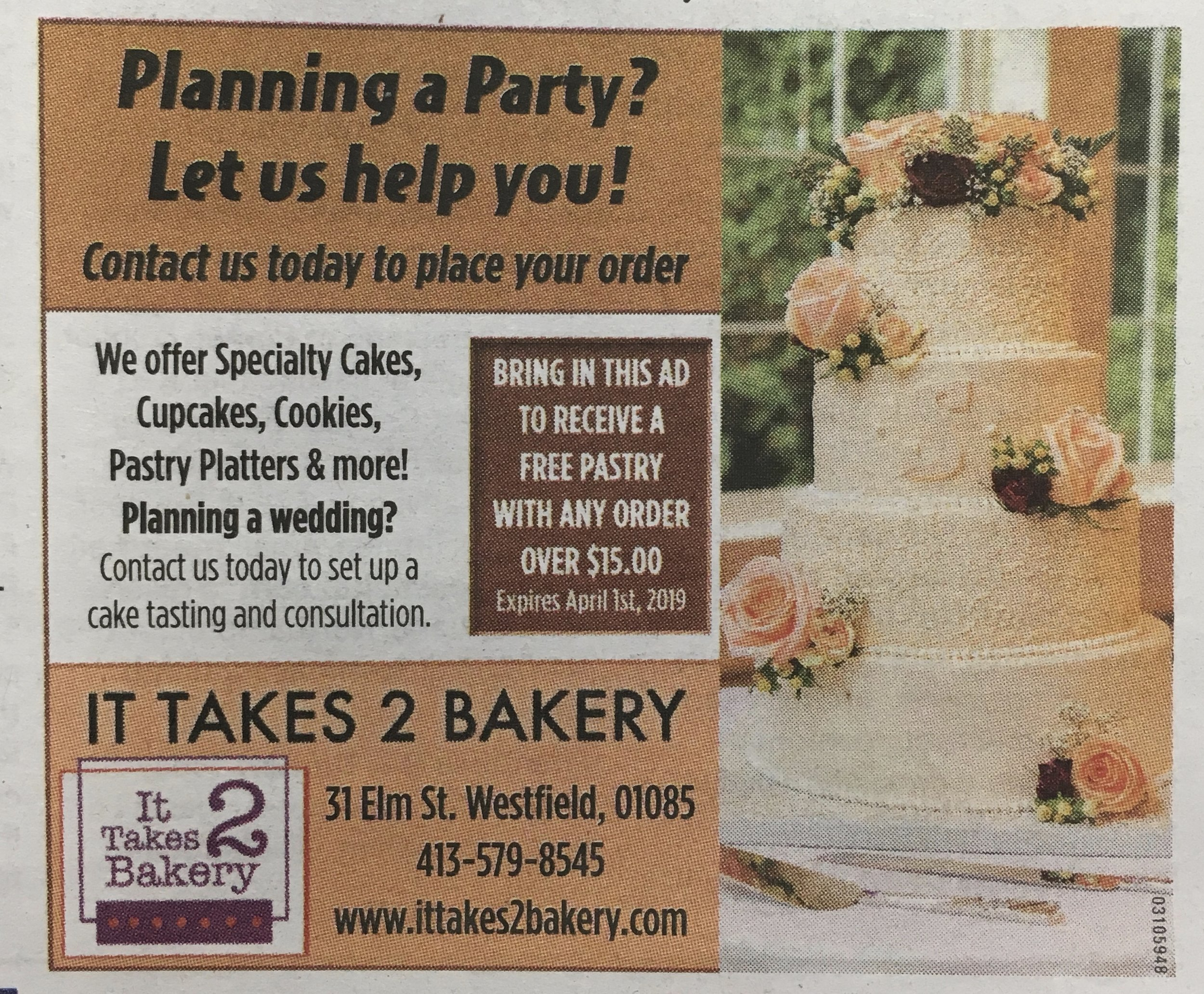 Did you miss us in the Newspaper this Valentine's Day?! If so, Print this ad and head on over to the bakery!