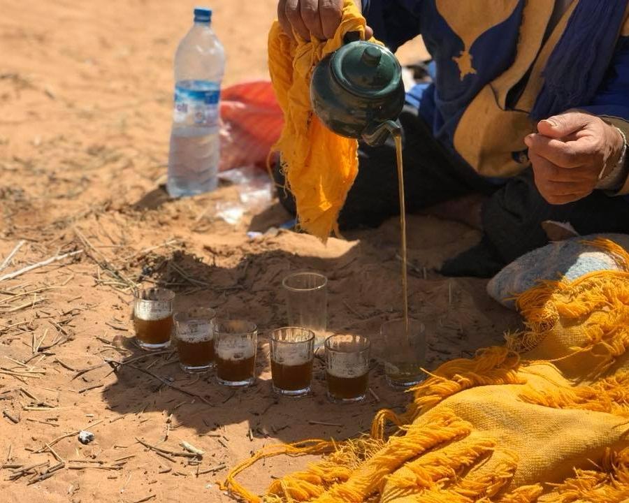 fresh mint tea...in the desert