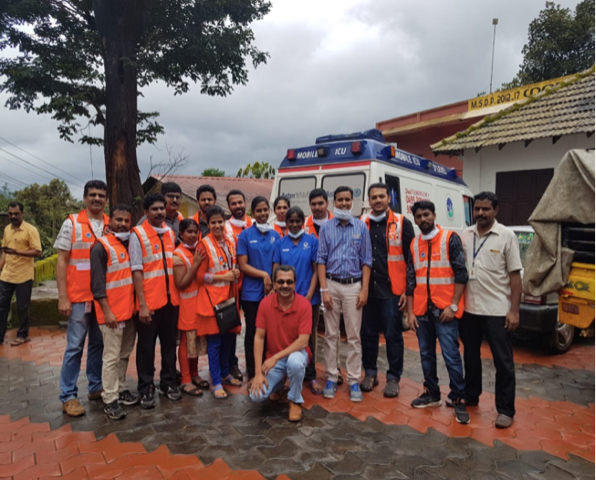 Physicians and Paramedics from the George Washington University Masters in Emergency Medicine program from Aster MIMS Hospital Calicut.
