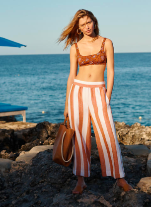 Perfect Beach Pants - The pair of Madewell jeans my Uncle Fred bought me a few years ago are still my favorite pants. WANT these Huston Pull-On Crop Pants in Evelyn Stripe.