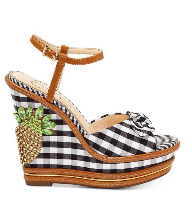Back-to-Work Wedges - Jessica Simpson, you nailed my dream wedge! Gingham + sparkly pineapple?! These will keep anyone in vacation mode—even when it's time to go back to the office.