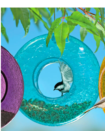 Moon Birdfeeder—($26.95) Gardeners.com I don't know about your dad but mine loves birds...and bird feeders. (He has a 'pet' hummingbird he named