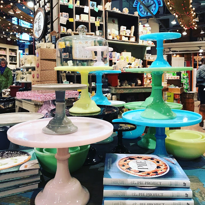 I took this photo at Fishs Eddy when my family took a weekend trip to NYC a few months ago. I was actually planning to buy a cake stand...until I saw the prices!