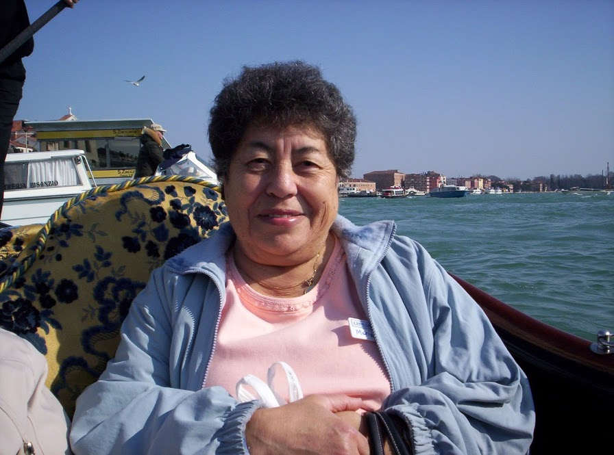 Look how cute she is! I took this picture of Abuela on a gondola ride in Venice, Italy! She took me on an incredible Italy trip when I was about 12 years old. My memory is actually terrible (a life-long problem for me) but I like to joke that I was so nervous about being away from home on that trip, I blacked it out in my mind. I basically just remember eating gelato!(And Abuela letting me drink wine! Ha!)But I do have some great pictures, like this one.One day I'll definitely go back to Italy for a vacation to remember!