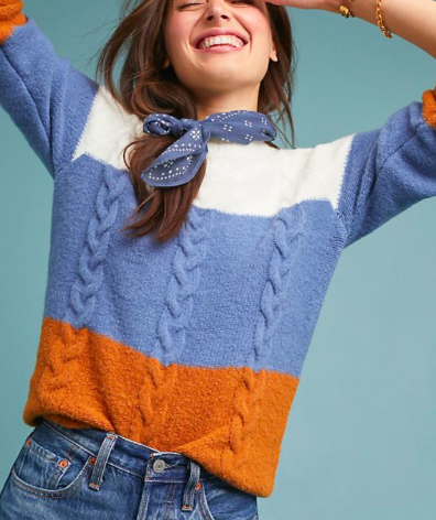 Must Have: A Cable Knit Sweater - I heart this one from Anthropologie where, to be honest, I rarely shop IRL because it's so $$$, but I love to look there for inspiration! And if I had the $, I'd say this piece is worth the splurge!
