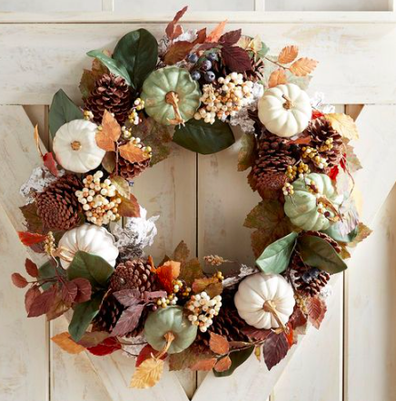 Must Have: Harvest Wreath - I love the wreaths at Pier 1 — the quality is notable. And isn't this one so #fallfarmhouse?