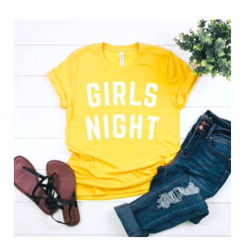 Girls Night Swag - Stephanie May Wilson has my heart! And she's going to have yours and your girlfriends' too! If you don't know about the Girls Night podcast, please go download it ASAP! Also, go download a free copy of her book The Lipstick Gospel. I read it in an afternoon it was SO GOOD! (And I've given it as gifts to a few treasured friends—it's a great gift too!) I love all her cute swag, like this bright T, for modern farmhouse girlfriends.