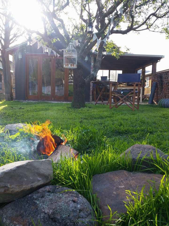 The Farm Shack camp fire -