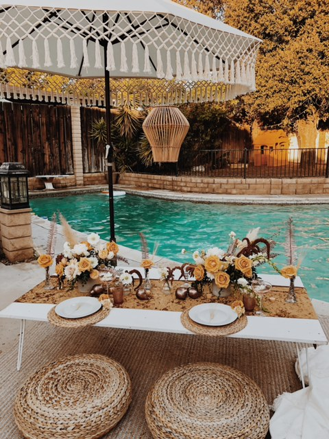 Poolside Table Decor -