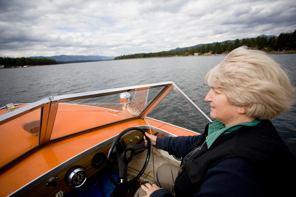 """""""Early morning is the best time to see wildlife,"""" Love says, driving across the lake. Seeley Lake is a glacier-carved lake that is three miles long, and a half mile wide. """"It's trial and error to find the animals"""" she says, """"but you can find most wildlife here."""""""