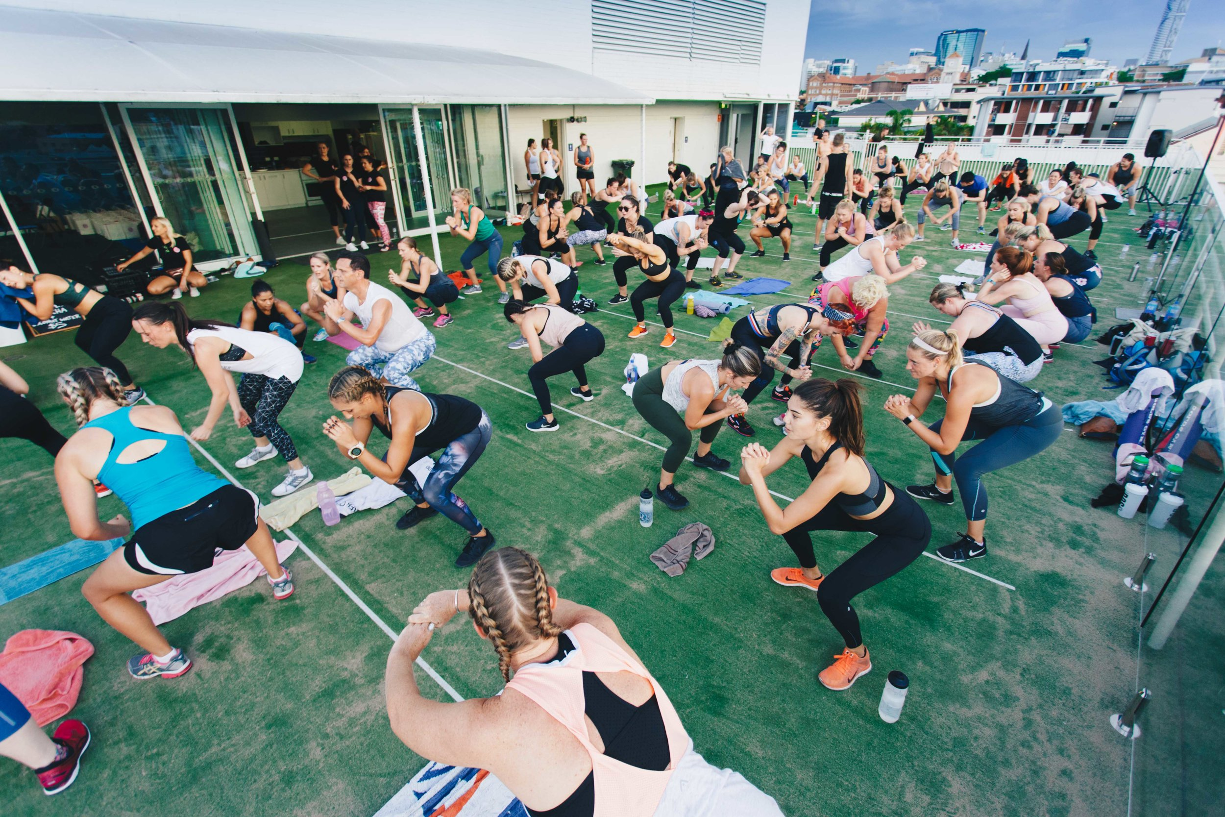 Secret Skyline Sweat - Sunday 11 February at a Secret Rooftop location in Fortitude ValleyHIIT workout with Fitstop Australia & Yoga flow with Dr Laura Elliot