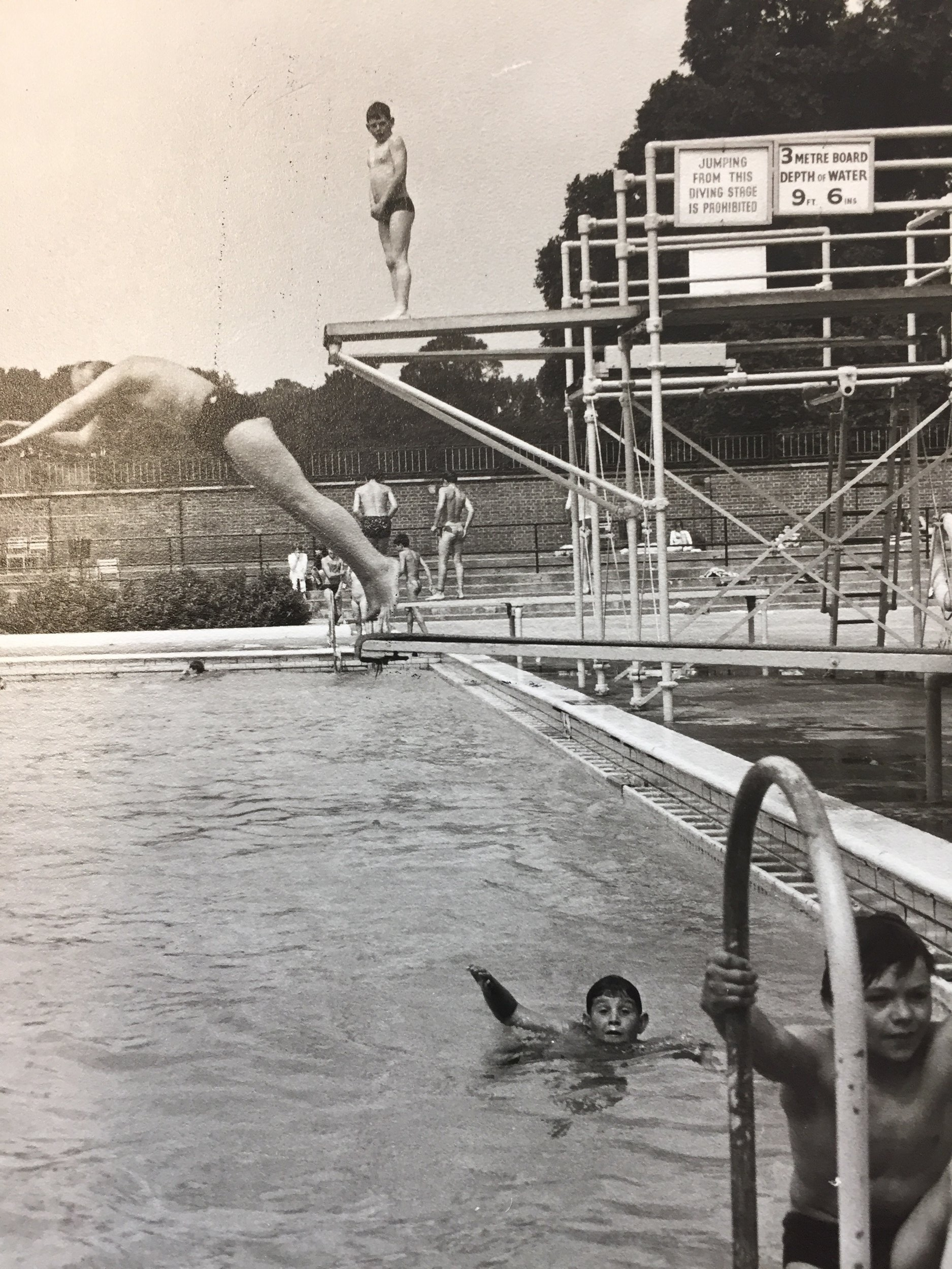 The main diving boards, in 1965