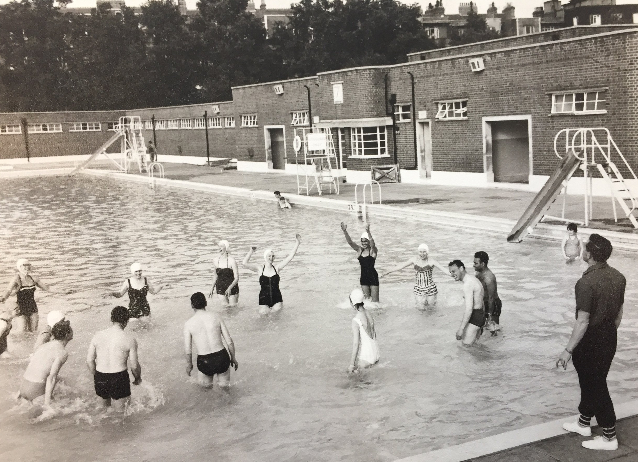 Swimming training in 1961