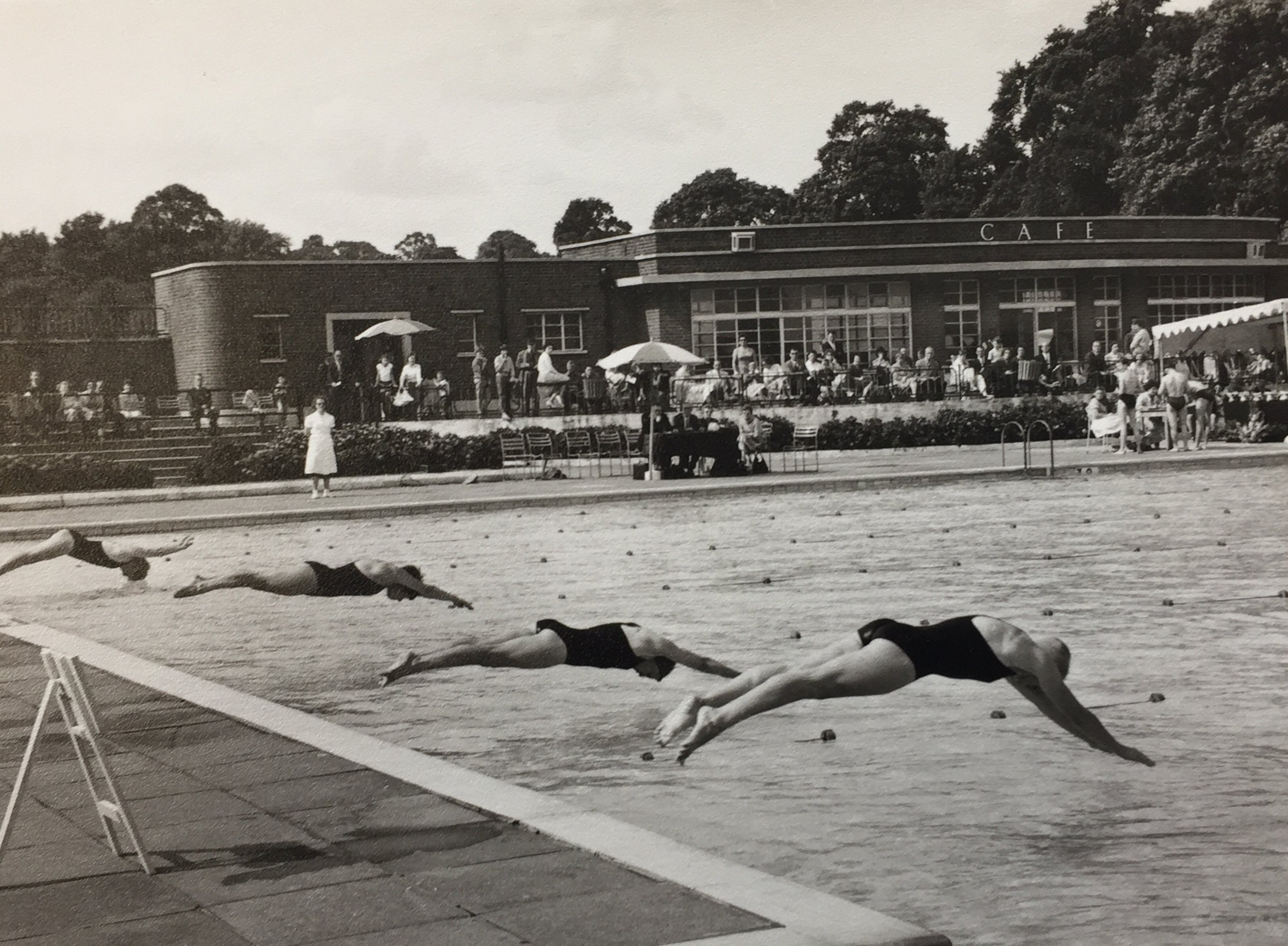 A swimming race at the London Swimming Championships