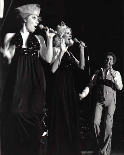 Barbara performing with Bobby Vinton