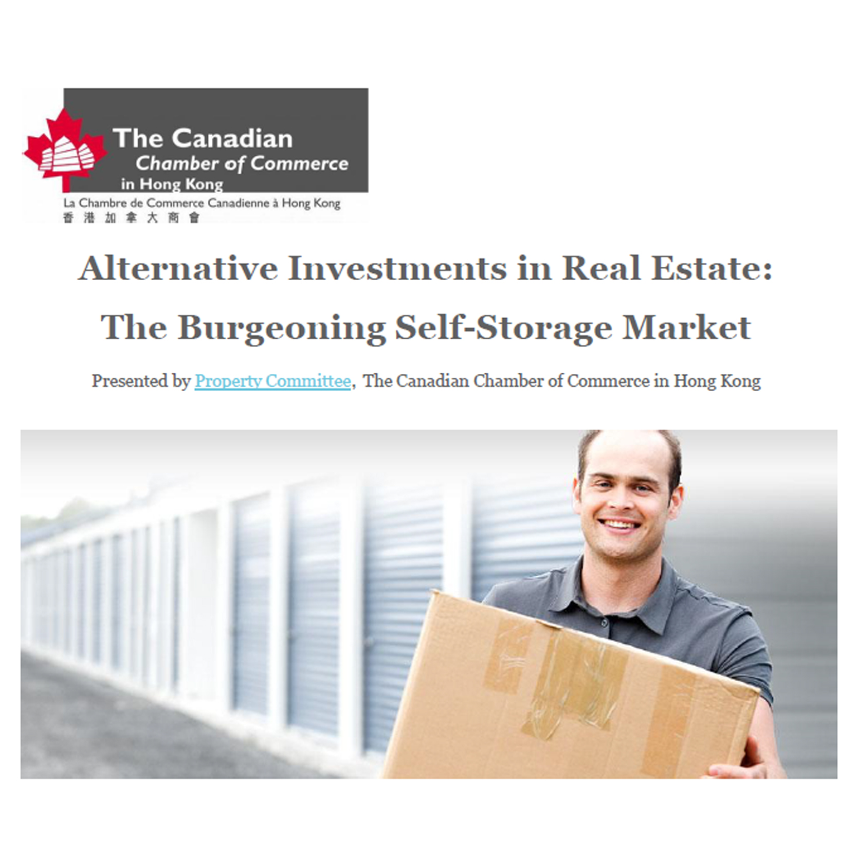 Jun 5 - Alternative Investments in Real Estate: The Burgeoning Self-Storage Market