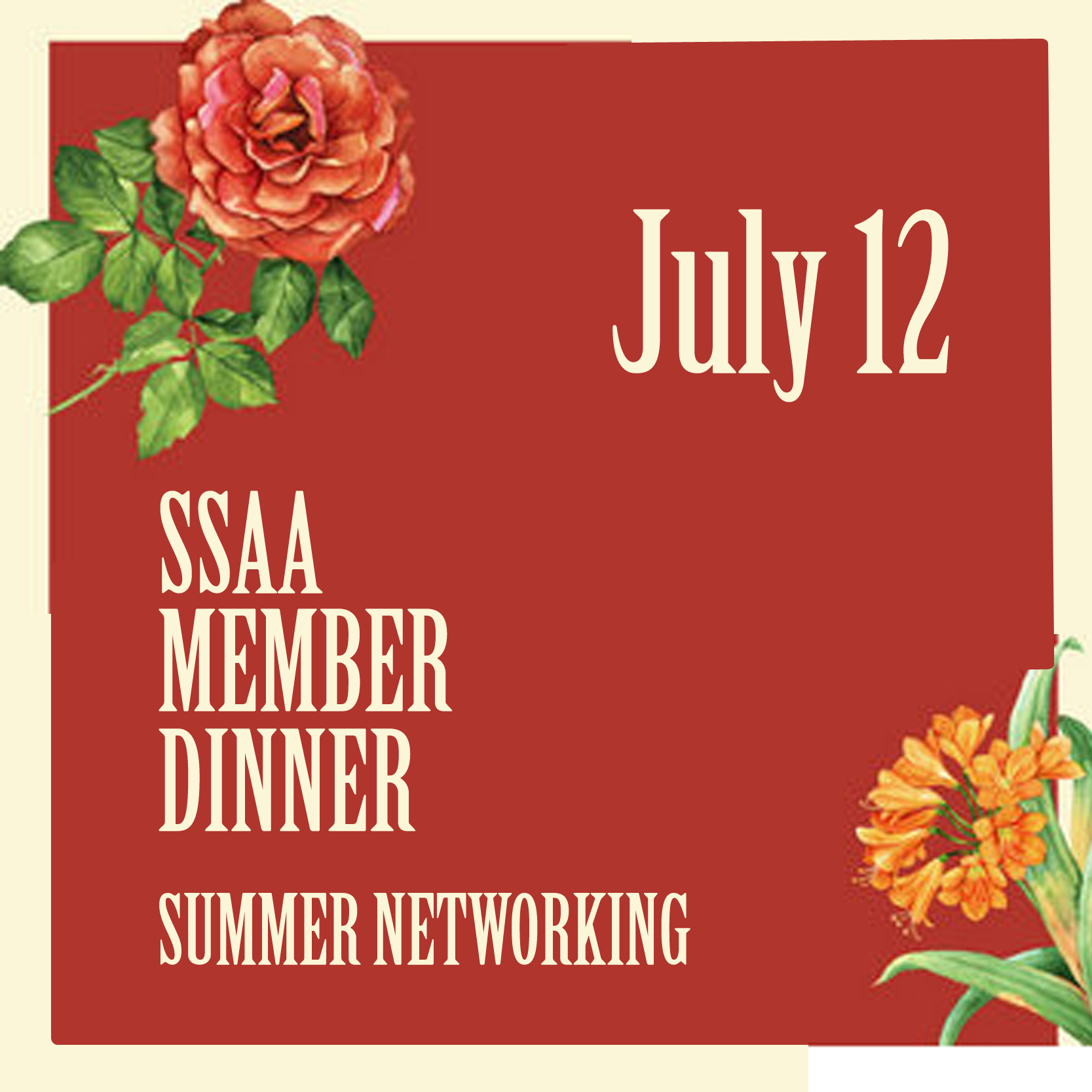 July 12 - SSAA Member Dinner Summer Networking, Hong Kong