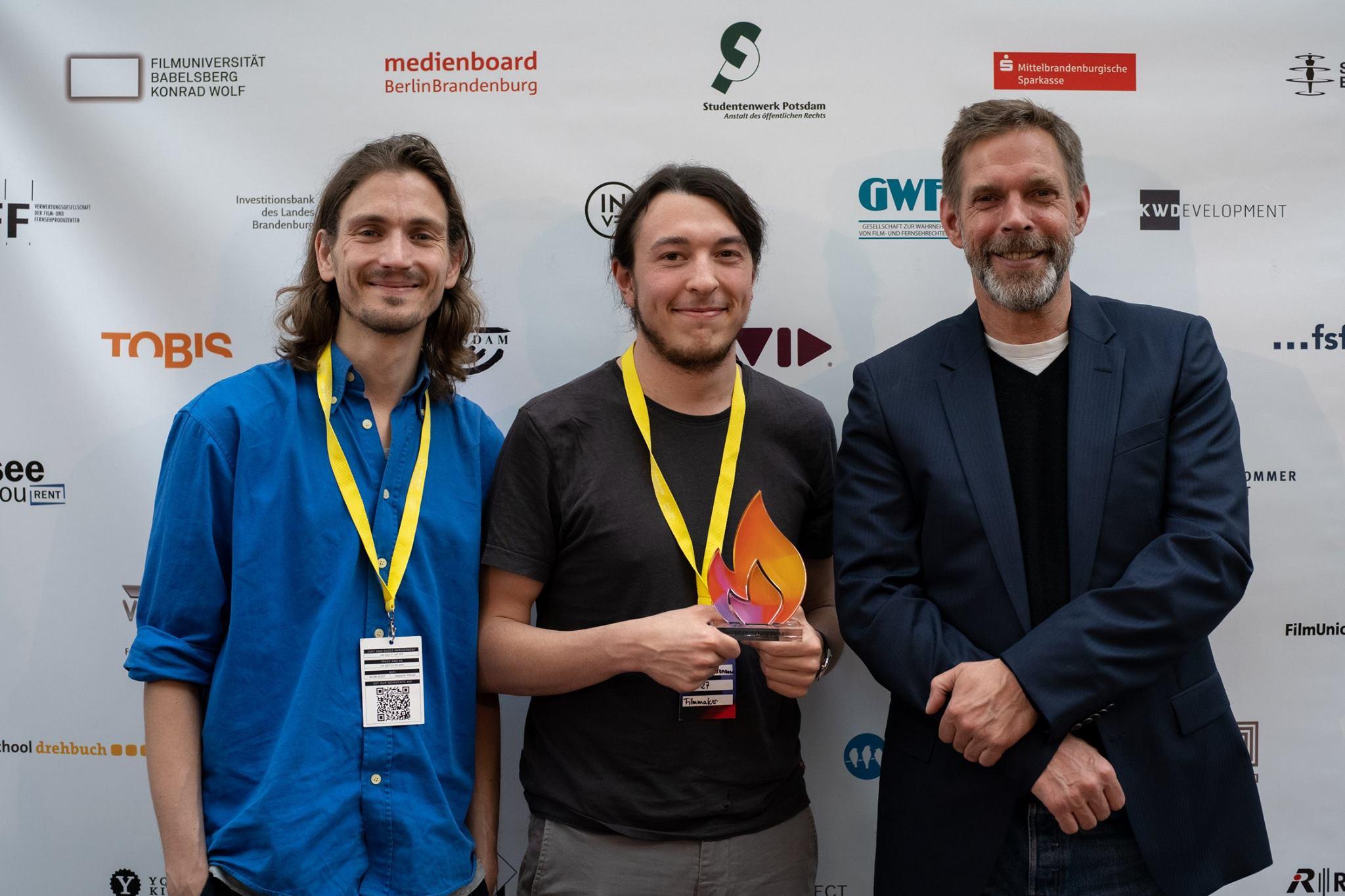 Raúl Semmler, Nicolas Kronauer (Fourmat Film), Dirk Weinreich (AVID)