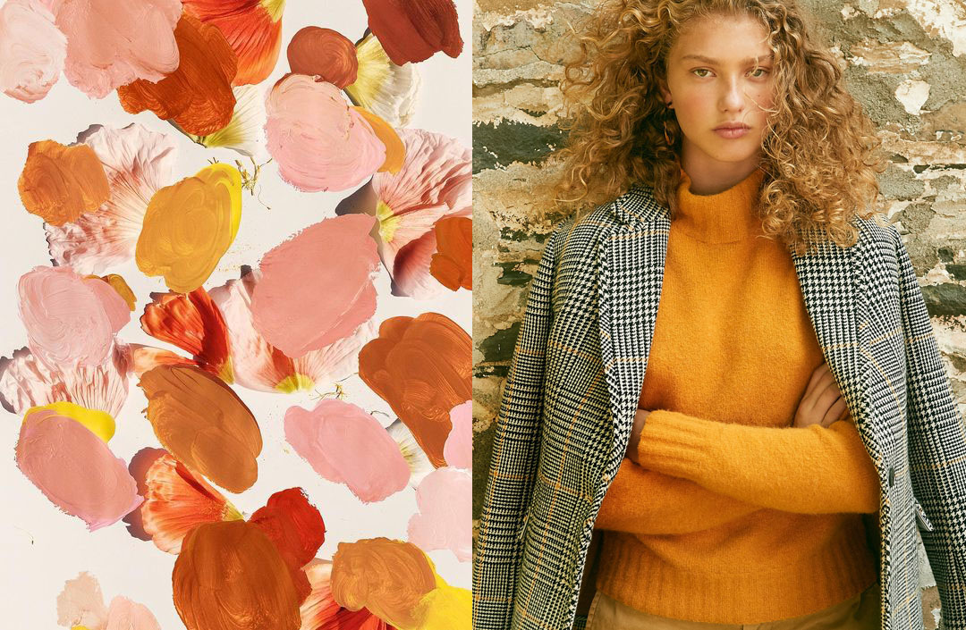 color palette via  Jasmine Dowling . outfit via  J. Crew .