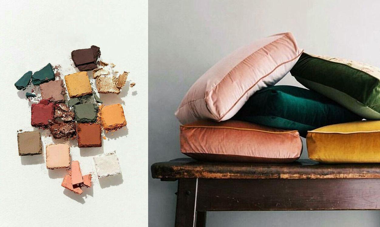 eyeshadow via  Anastasia Beverly Hills . Pillows via  Laudae Bride .