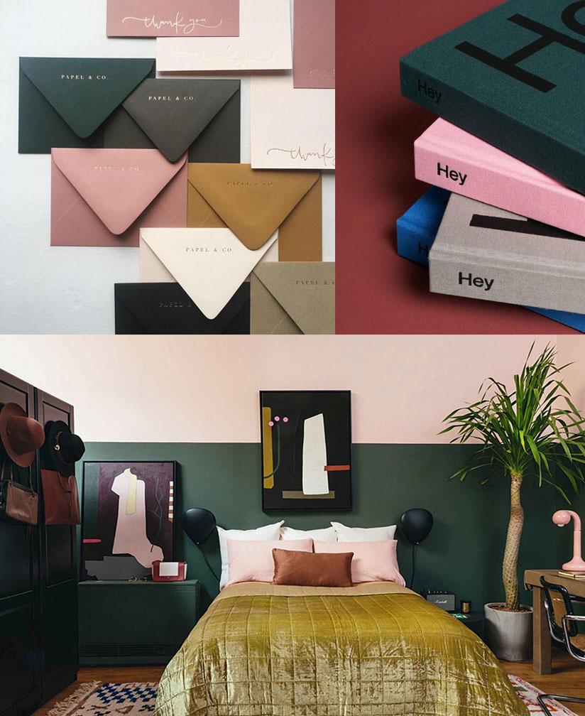 envelopes via  Papel & Co . books via  The-Book-Design . room via  Styled by Emily Henderson