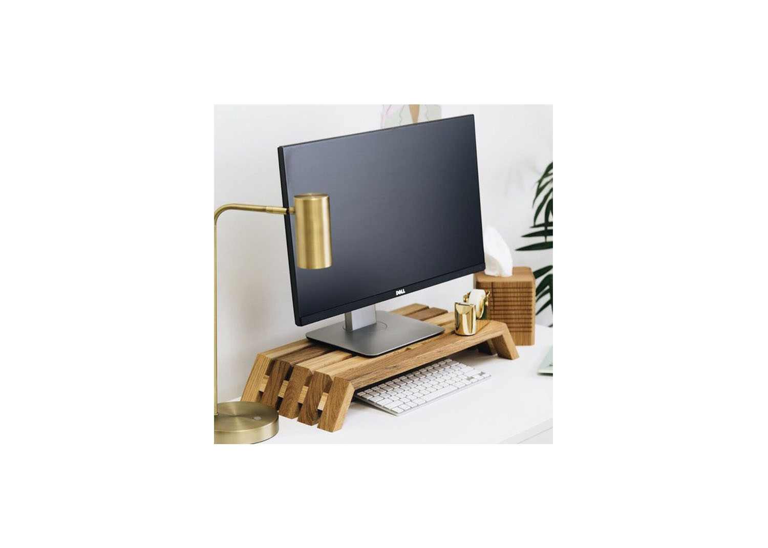 Wood Monitor Stand - $79