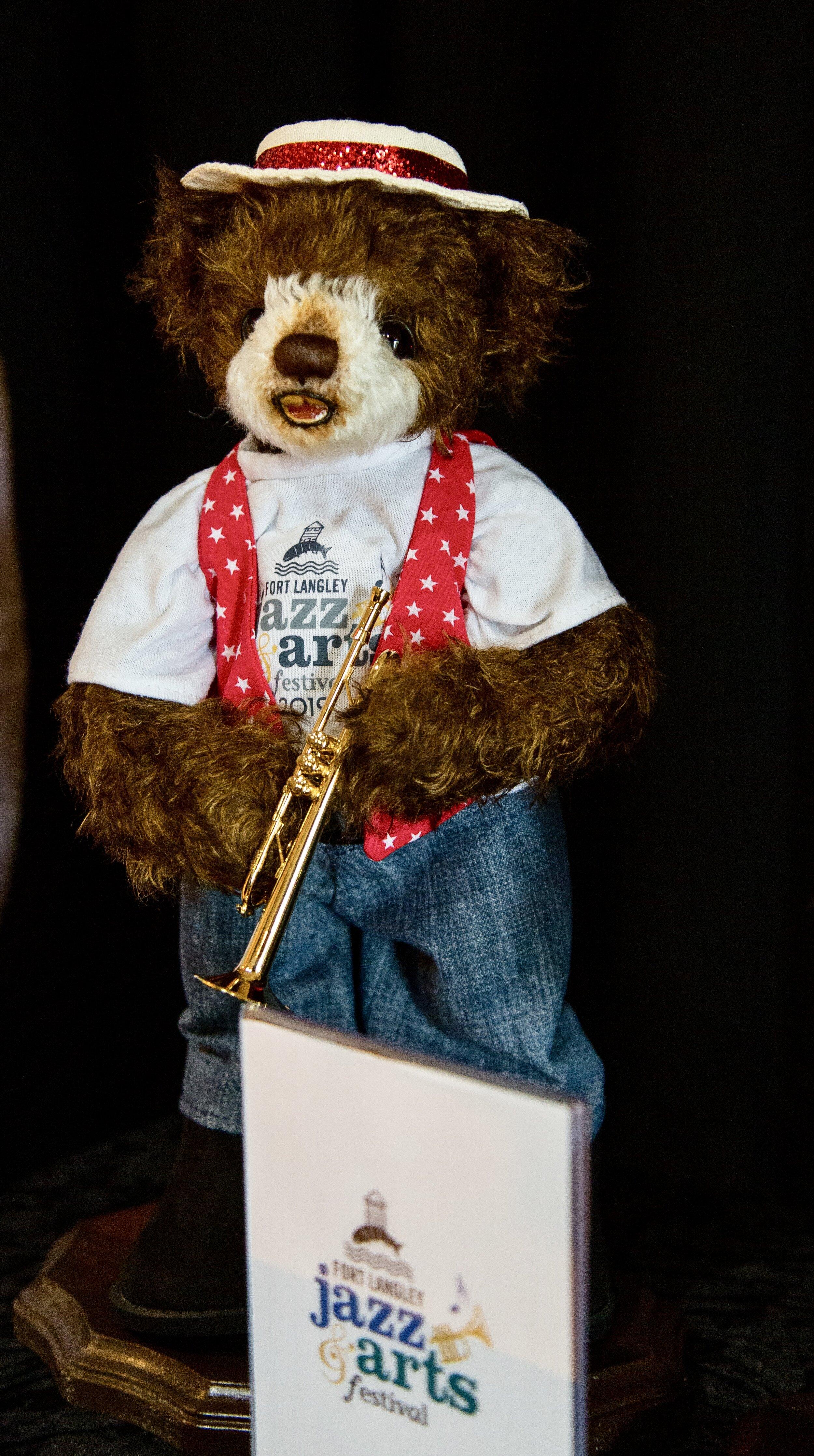 The 2019 Fort Langley Jazz & Arts Festival Commemorative Jazz Bear